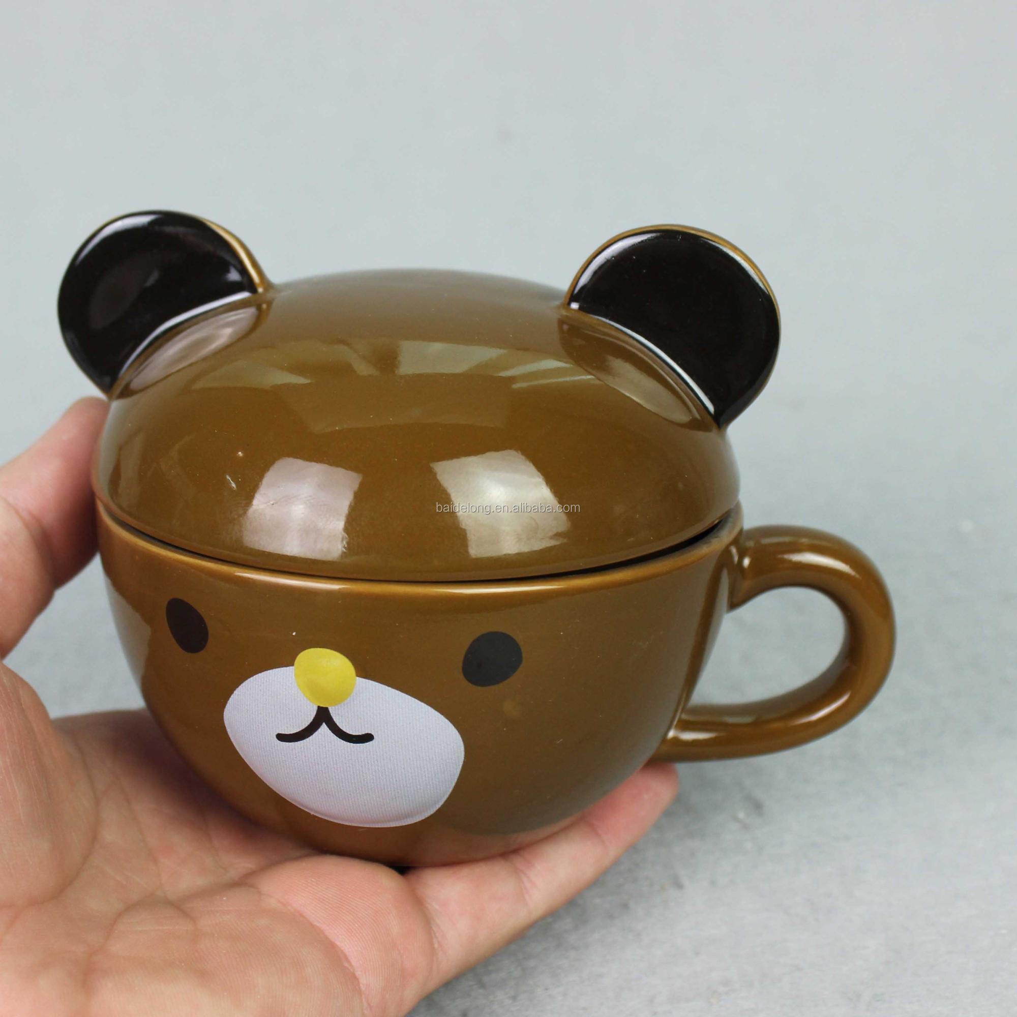3d Coffee Mug Cute Ceramic Creative Bear Mugs Cartoon Funny Tea Cup With Lid And Handle Buy Bear Mugs With Lid Tea Cup With Logo Ceramic Tea Cup With Infuser Product On Alibaba Com