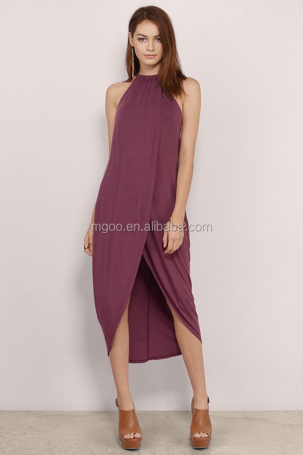 Venta al por mayor vestido verde cuello halter-Compre online los ...