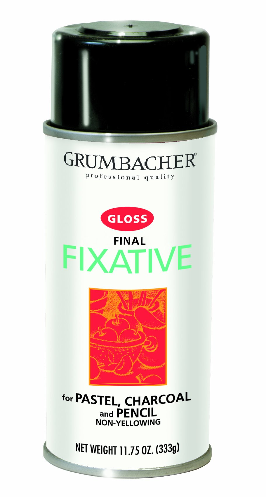 Grumbacher Final Fixative Gloss Spray, 11-3/4-Ounce Can, #543