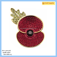 New products fashionable poppy brooch badge pins