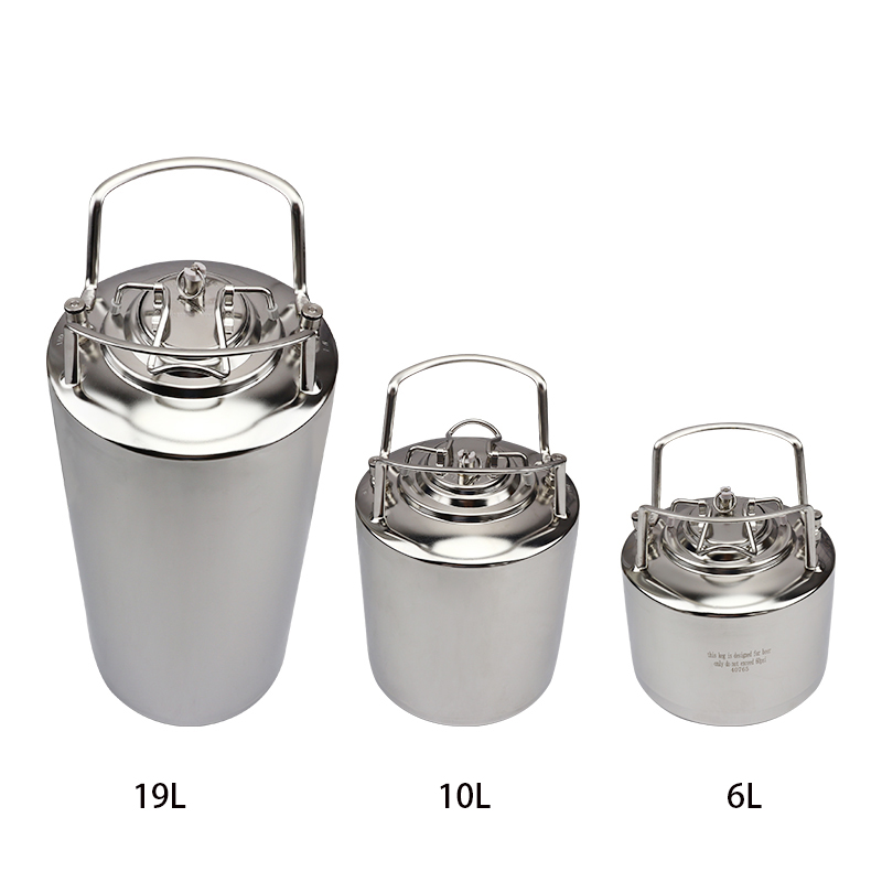 19L 5Gallon Tank Stainless Steel Ball Lock Draft Beer Keg with adjustable beer faucet Mini Keg charger home Beer Brewing