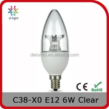 A38 Dim 500lm 6w 40we E14 Chandelier Crystal Light Bulb For Canada ...