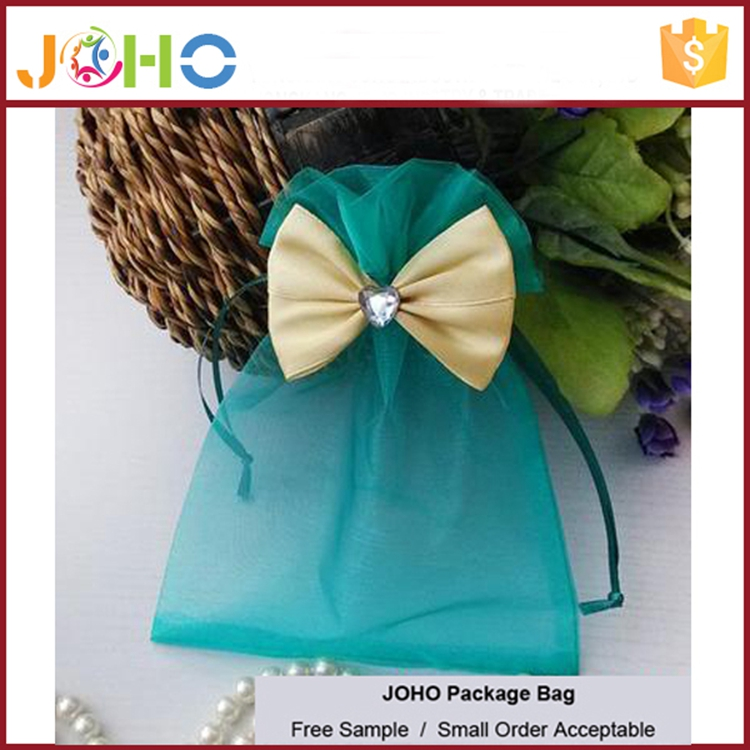 China Manufacturer Wholesale Custom Fashion Cheap Organza cheap organza bags for wine with butterfly
