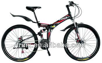 6bd995503cf trinx 26 inch folding full suspension mountain bike Y frame folding bike  hot sale