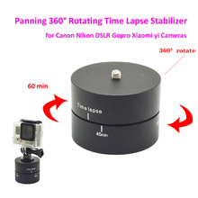 Aluminum Photography Panning 360 Degrees Rotating Time Lapse Stabilizer Tripod Head Adapter for Canon Nikon DSLR Gopro Cameras