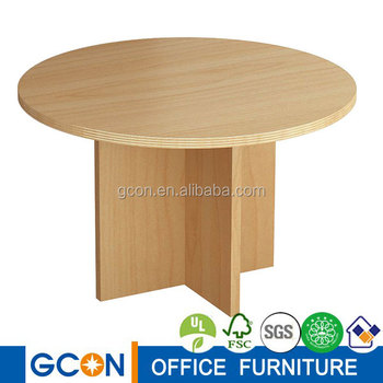 Small Round Meeting Table Wood Living Room End Mdf Coffee Product On