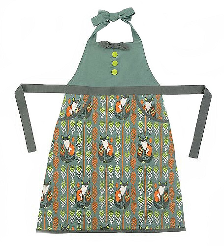 "Sitting Foxes Apron by Peking Handicraft 26"" x 33"""