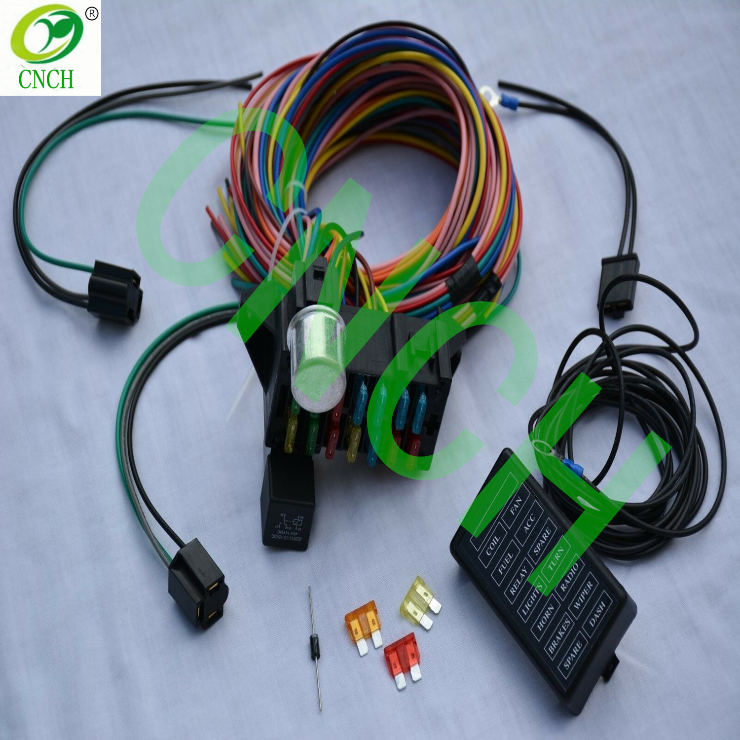 [QNCB_7524]  14 Circuit Wire Harness Fuse Box Street Hot Rod Wiring Car Truck 12v Gm  Coded - Buy 14 Circuit Wiring Harness,Fuse Box Wire Harness Kit,Ford Oem  Wiring Product on Alibaba.com | 12 Vdc Car Fuse Box |  | Alibaba.com