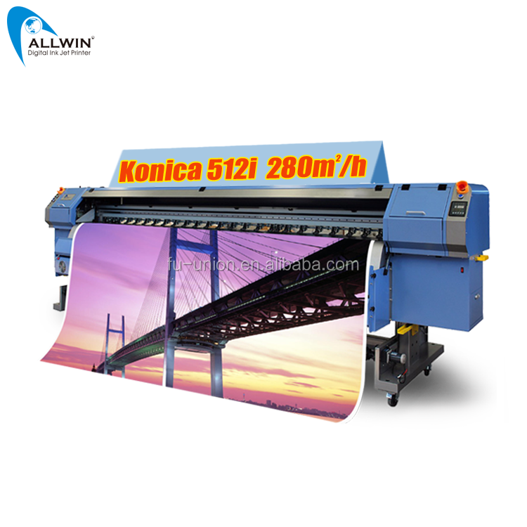 Konkurrenzfähiger Preis 3.2m Allwin Printer Konica 512i Flex Banner Digitaldruckmaschine in CHINA