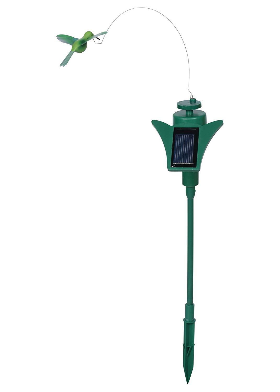 Russco III GD131607 Solar Fluttering Hummingbird Garden Stake