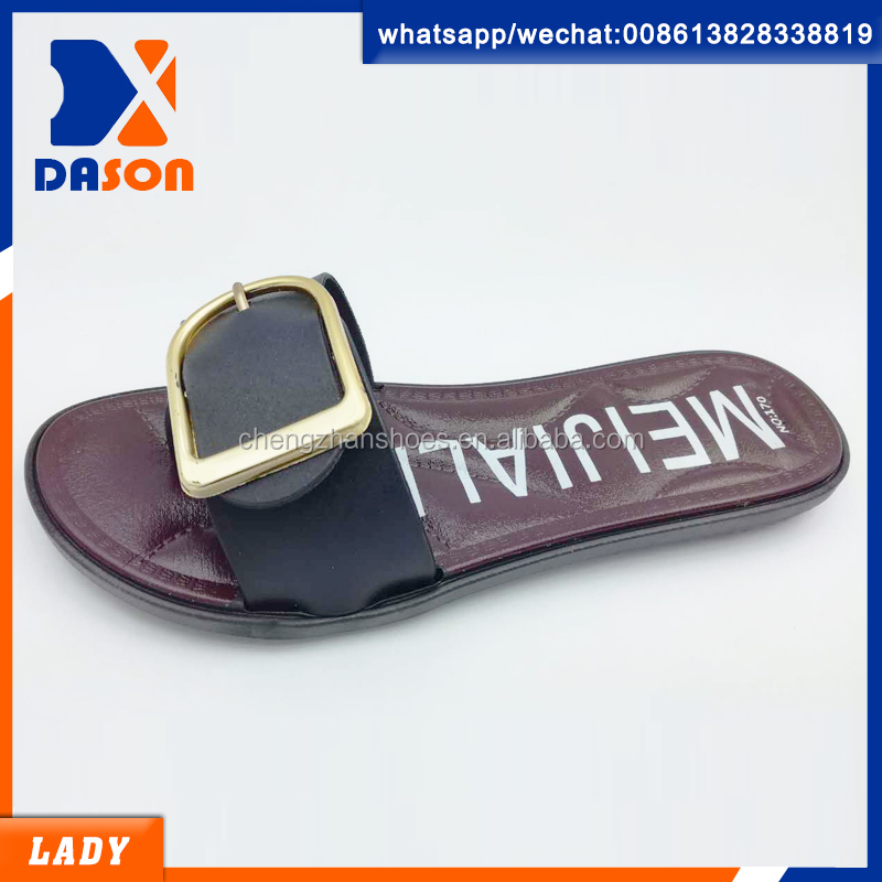 2017 women fashion design slippers blowing pvc