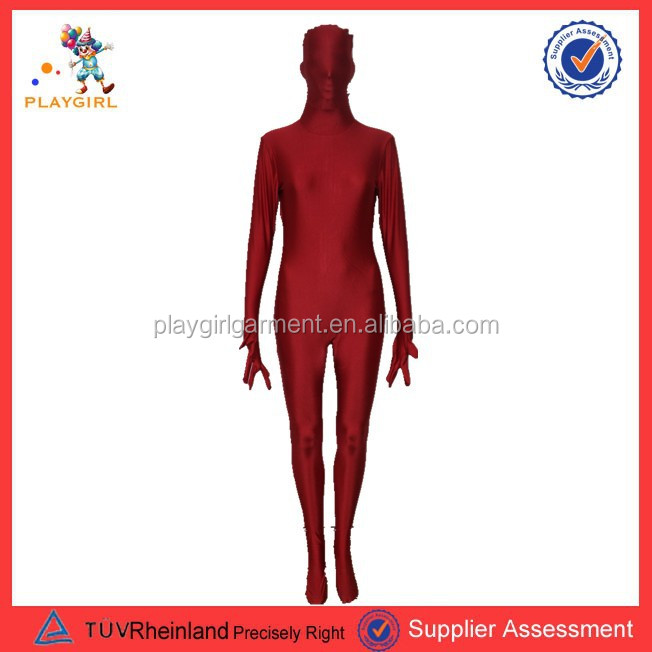 PGMC-0023 red morph suit for man's costume second skins halloween ghost costume