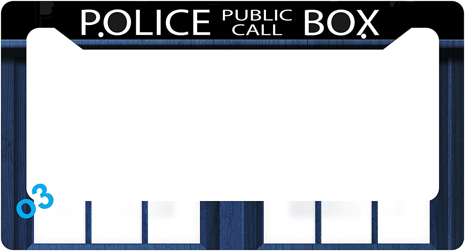 Buy Dr. Who Tardis Police Call Box Collage License Plate Frame ...