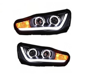 Factory factory for Mitsubishi lancer EX LED head light 2010 2011 2012 2013 2014-up for Lancer EVO with HID xenon lamp