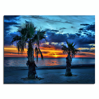 natural scene seascape led canvas painting,lighted canvas art painting