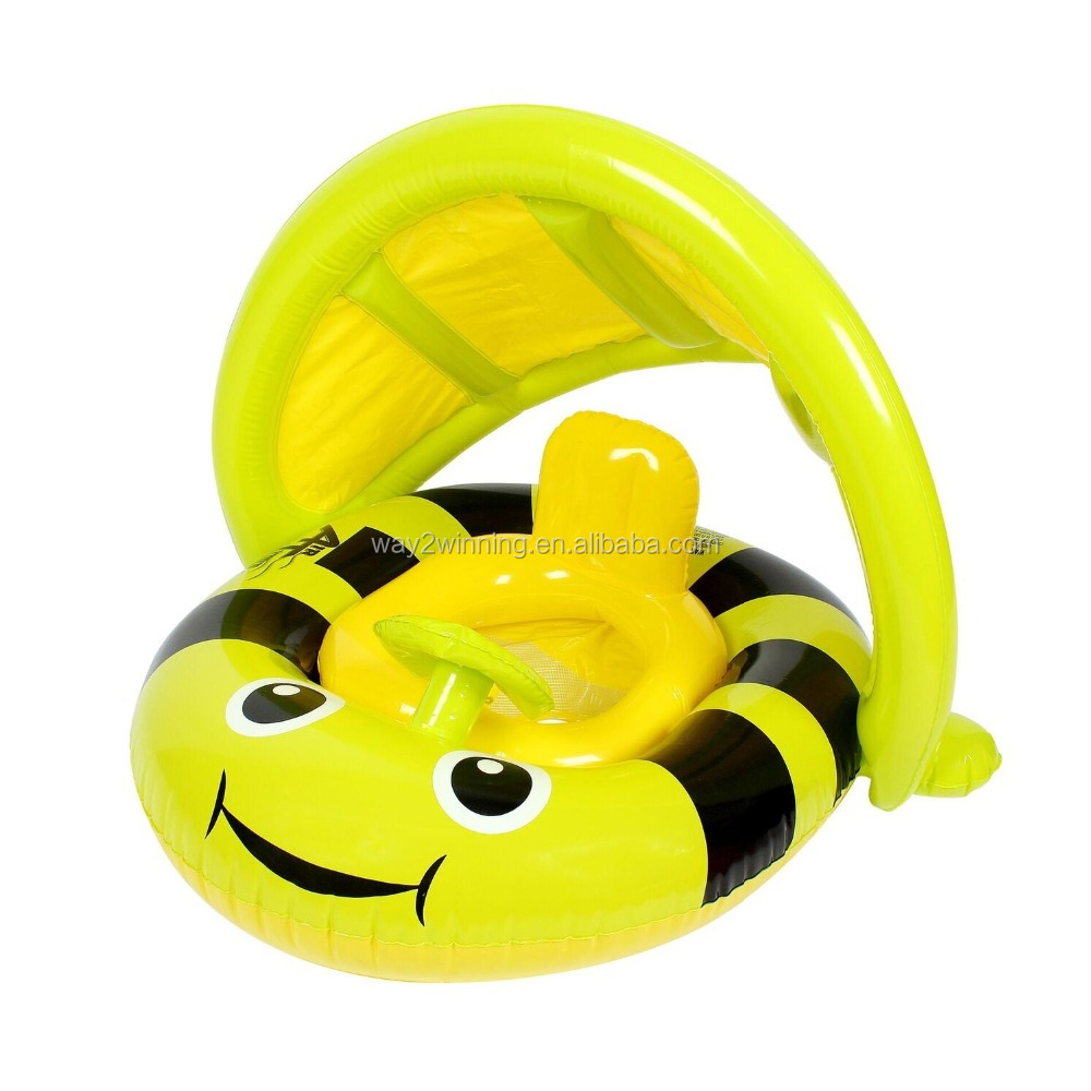 Inflatable Baby Float With Canopy Bumblebee