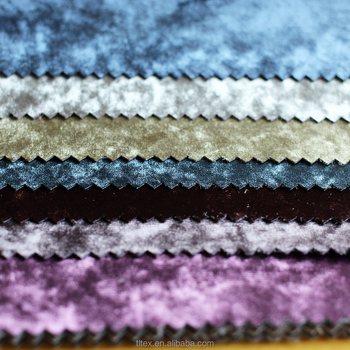 Polyester Crushed Velvet Upholstery Fabric Diamond For Home Textile Cut Sofa