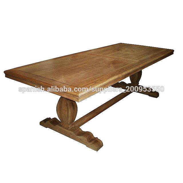 Muebles antiguos europeo mesa de comedor de madera de teca reciclada ...