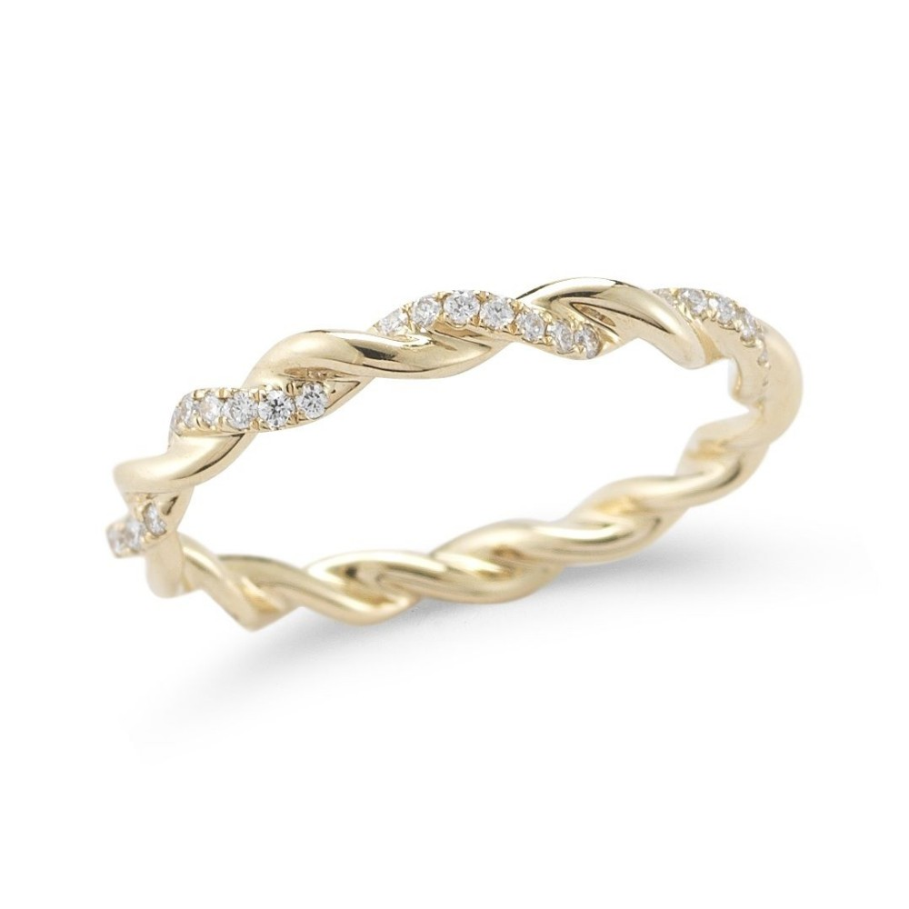 OEM/ODM YCR7175 Fashion Beautiful Eternity White CZ Stone Band Rings For Rings Jewelry