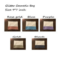Wholesale Monogrammed Glitter Cosmetic Bags
