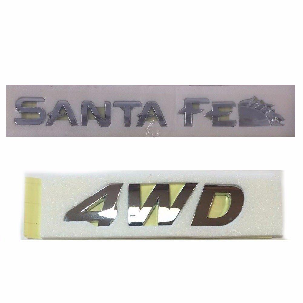 Rear Trunk Santa Fe & 4WD Logo Emblem for 2001-2006 Hyundai Santa Fe OEM Parts