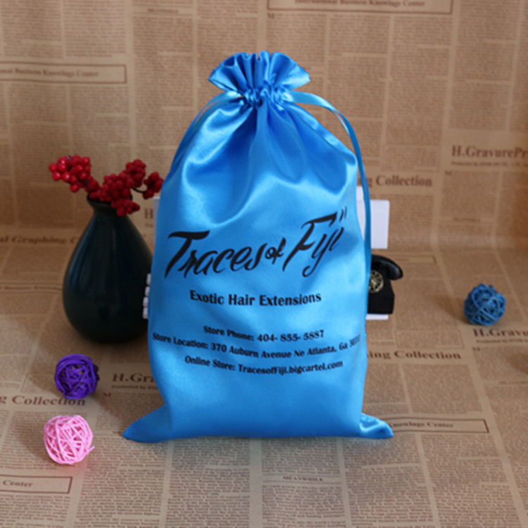 Custom Stylish Satin 3 Bundles Hair Packaging Bag Hot Product On Alibaba