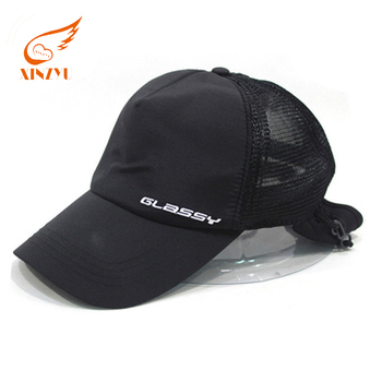 6147c2d59bba8 Unisex sports polyester flexfit caps mesh back trucker hat with earflap