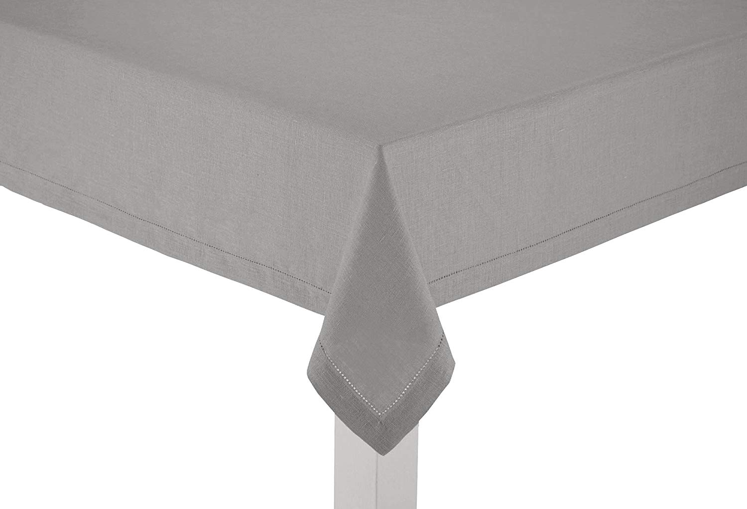100% Linen Hemstitch Table Cloth - Size 60x108 Charcoal - Hand Crafted and Hand Stitched Table Cloth with Hemstitch detailing. The pure Linen fabric works well in both casual and formal settings