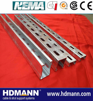 China Manufacture Pre Galvanised/hot Dipped Galvanised Strut ...