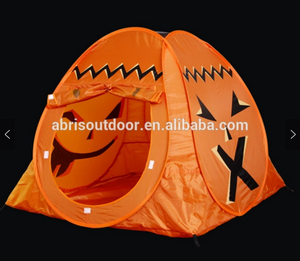 Halloween Decoration Sleeping Kids Play Pumpkin Shaped Tent