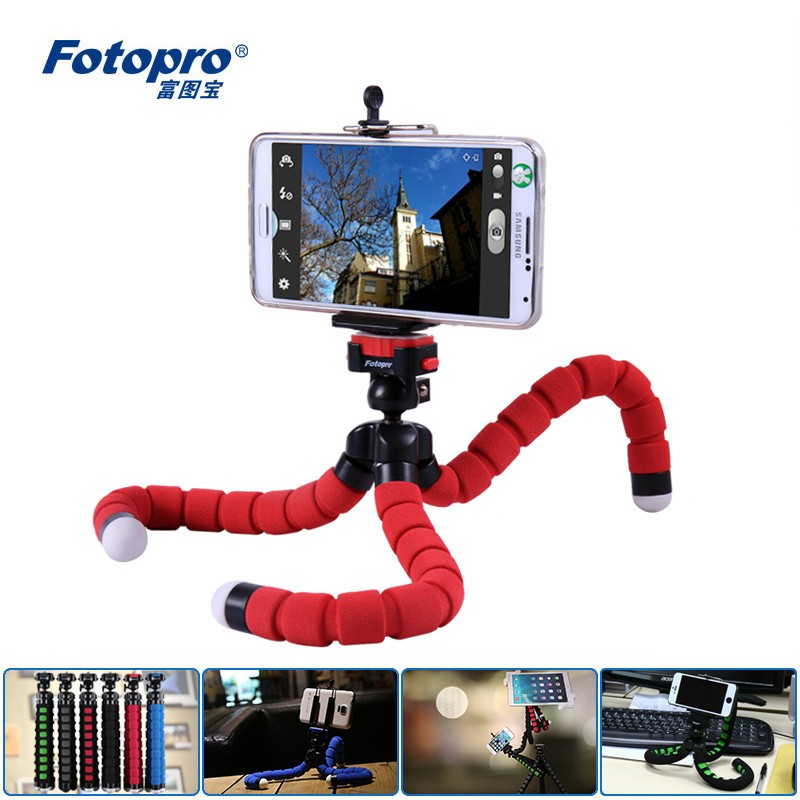 DSLR and Digital Cameras Fotopro Flexible Tripod RM-100-1 for Cell Phones Blue