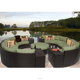 All Weather Garden Round Rattan Outdoor Bed Outdoor Swing Wicker Sofa Set