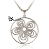 Crystal Beautiful Fashionable Jewelry Wholesale China Five Leaf Crystal Pendant Necklace