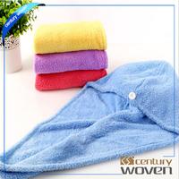 Microfiber hair wraps, magic hair drying cap
