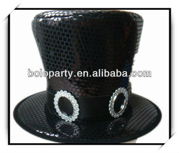 halloween round top hat with pailette funny kids hat