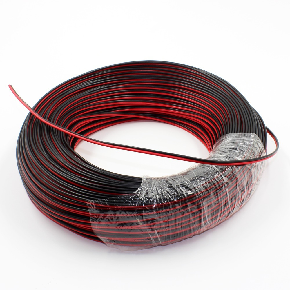 Cheap Black Wire Electrical Find Deals On For House Buy 102 Underground Wireelectrical Get Quotations 20m 66ft 20awg Dual Red Jumper Cable Cord Led Strip