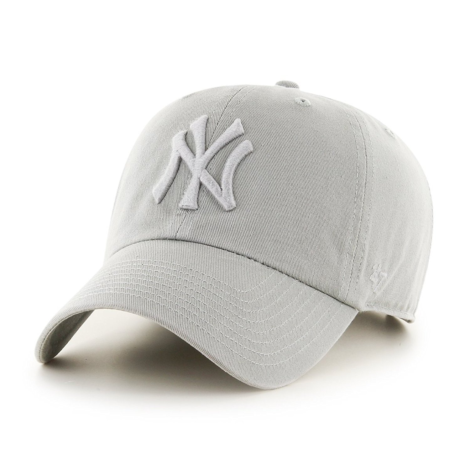 d3d4b79bc9a68 Get Quotations · 47 Brand New York Yankees Clean Up Dad Hat Cap GREY Tonal  QS Quick Stike