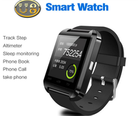 NEW Portable wireless wrist Bluetooth U8 3 g android smart watch