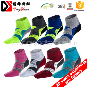 Ankle Style Combed Cotton Nylon Sport Socks Custom Cushion Bottom Men Cotton Colored Ankle Socks