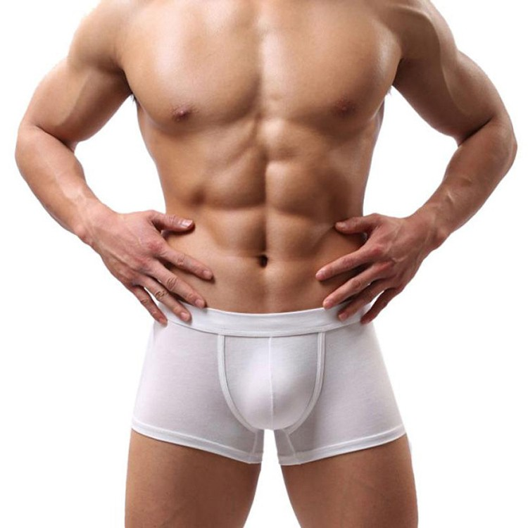 men Wet white underwear