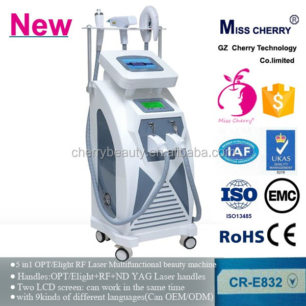 guangzhou beauty equipment opt Elight RF ND YAG laser Freckle removal machine
