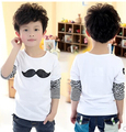 2016 spring autumn children s clothing baby boy mustache model long sleeved o neck cotton t