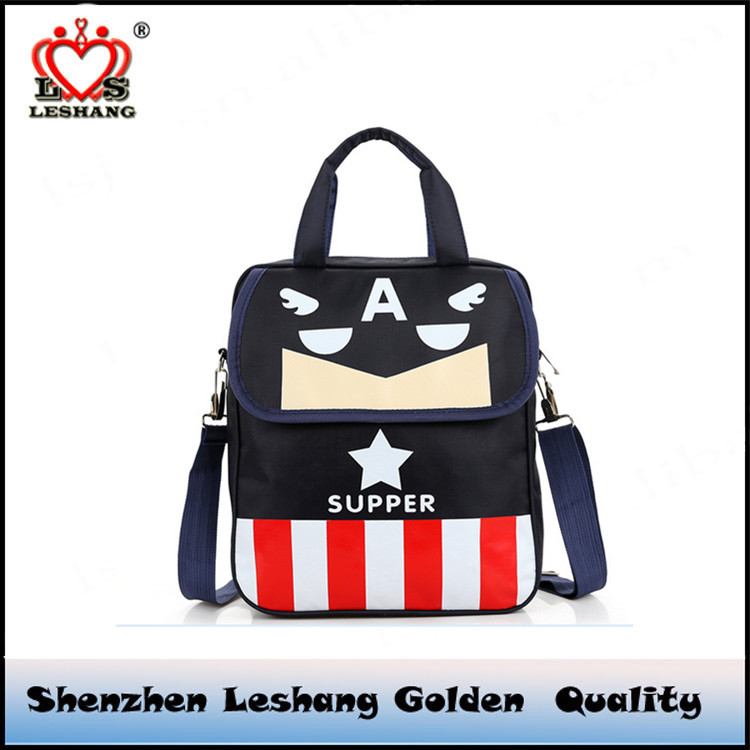 Cartoon package factory direct students with function of children with the burden of nylon bag three bag student bag
