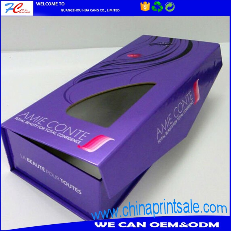 New style paper foldable box with PVC windoow