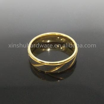 2017 Latest Design Two Tone Gold Silver Sanding Ring Dubai Gold
