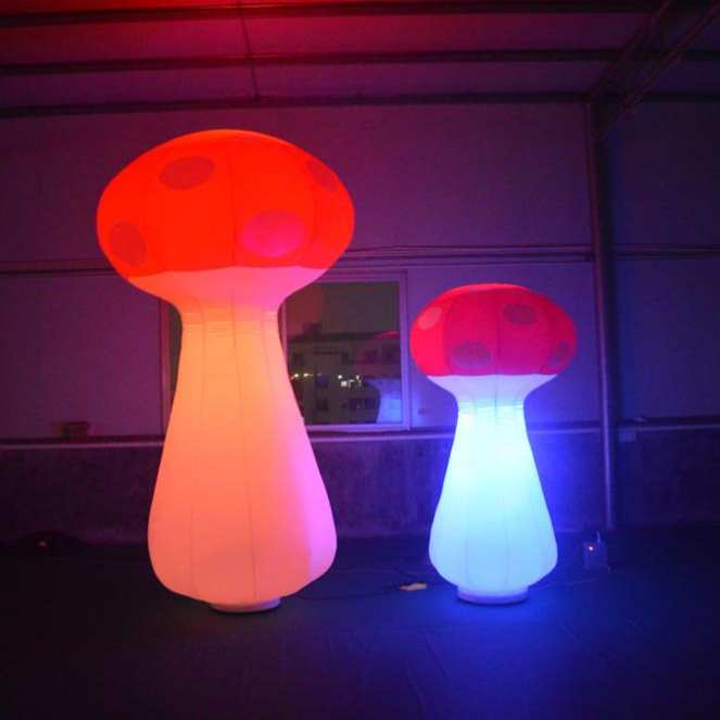 2m advertising <strong>inflatable</strong> 16 colors changing led light <strong>inflatable</strong> mushroom