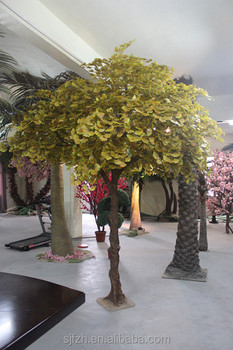 New Design Outdoor Fake Trees Artificial Ginkgo High Imitation Large Tree