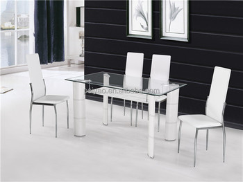 Fashion 2 Layers Glass Dining Table And Chairs 6 Seater Set(fdt-2 ...