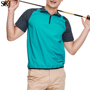 Latest Custom Blank Nylon Spandex Short Sleeve Men's Polo Sports Shirt