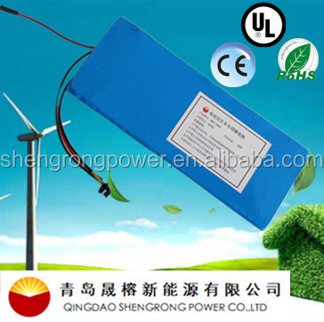 G 2016NEW High quality rechargeable 48V8Ah/10Ah high capacity 180650 3C power lithium battery for electric bike